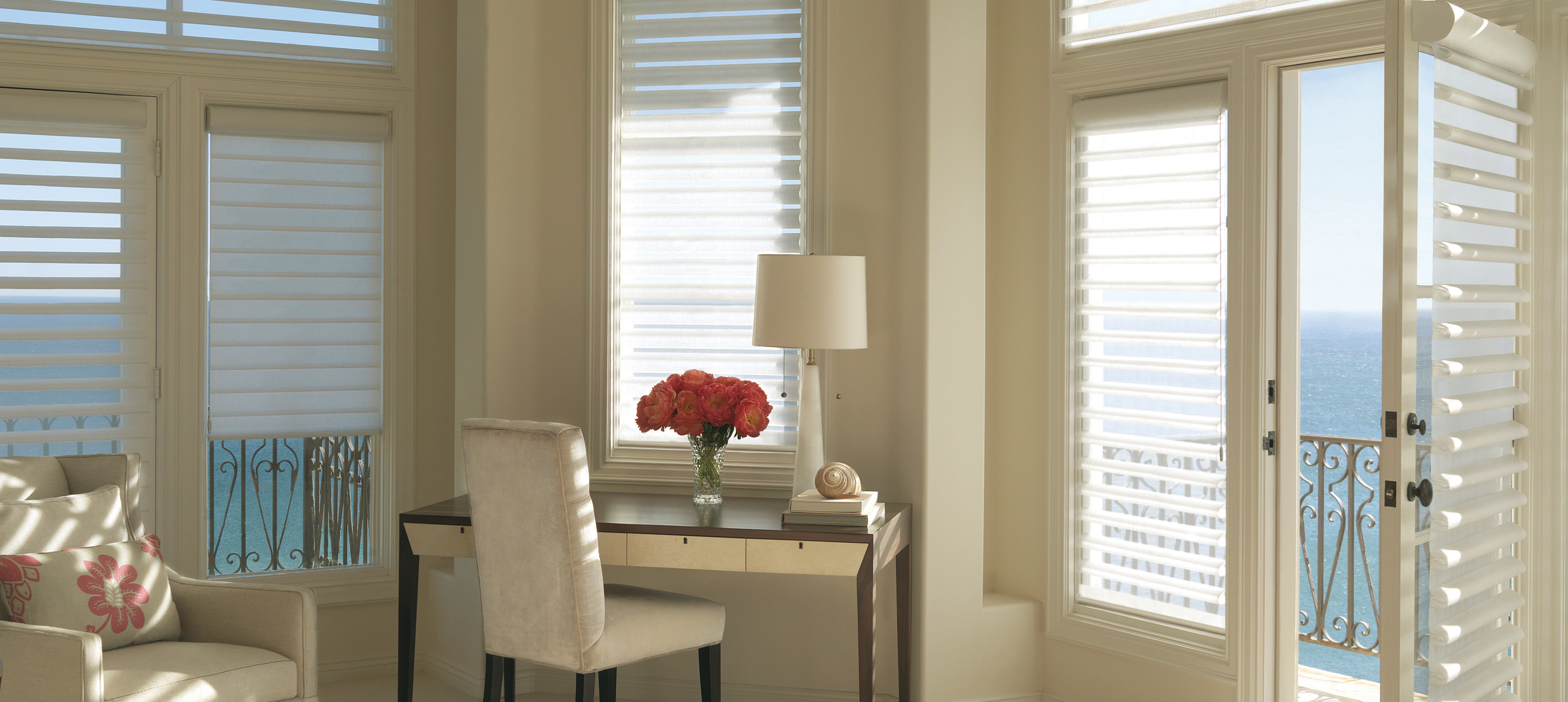 dressed well blinds duette douglass shutters sheers window the kelowna services shades hunter douglas products